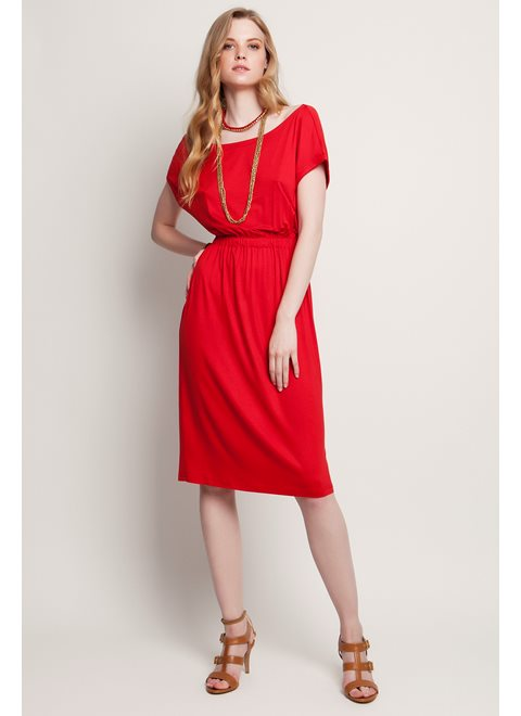 Sunday Morning Stories Absolute Red Backless Dress