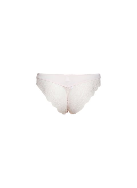 Sheer Pink Cheeky Lace Brief