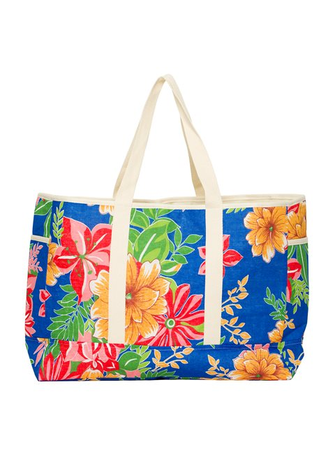 Into The Tropics Blue Beach Bag