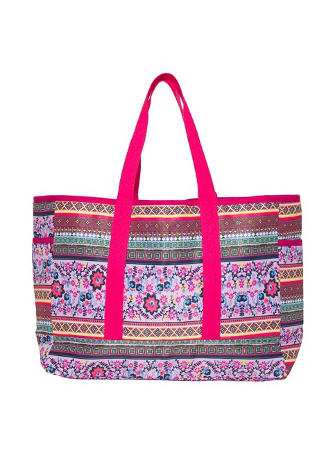 Aztec Floral Beach Bag