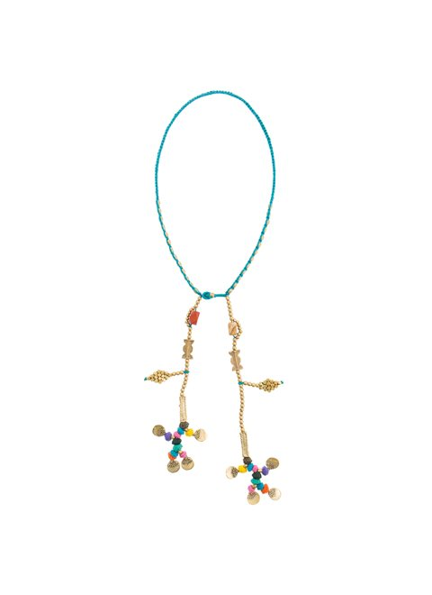 Turquoise Multi Colored Ethnic Necklace