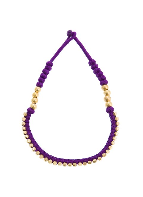 Turquoise Purple Knitted Necklace