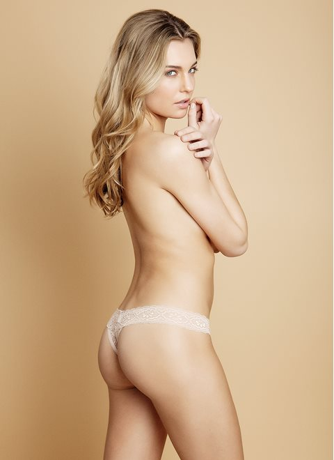 Nude Lace Thong