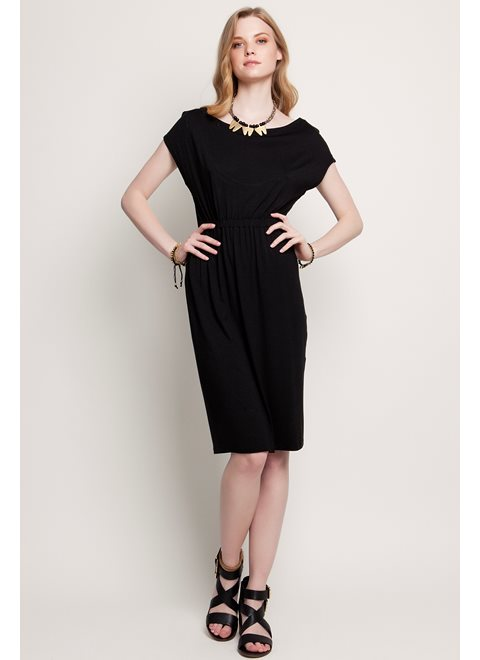 Sunday Morning Stories Absolute Black Backless Dress