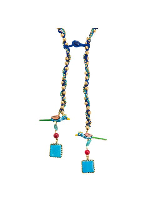 Turquoise Blue Parrot Necklace