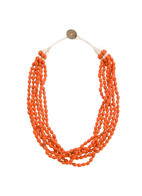 Turquoise Multi Terracotta Beaded Necklace