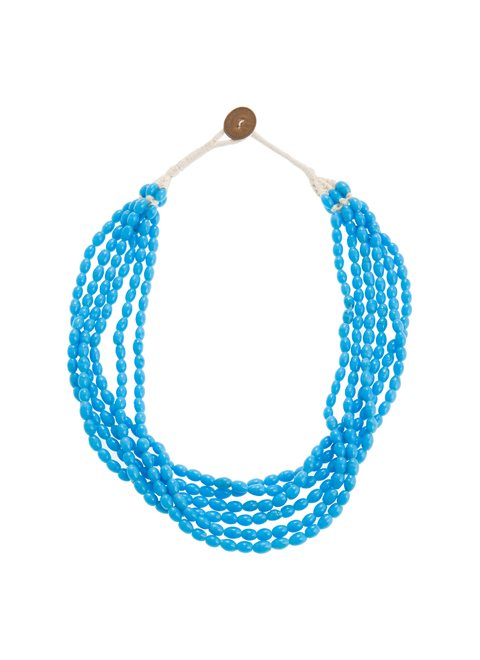 Turquoise Multi Blue Beaded Necklace