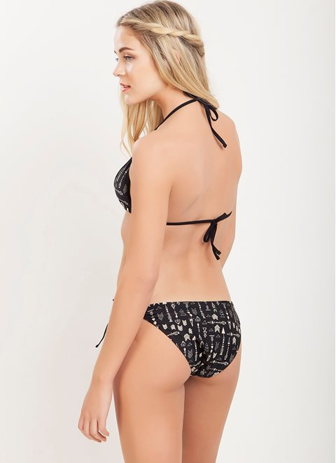 Polymnea Black Arrow Mesh Bottom