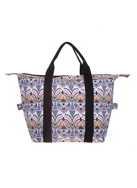 Dione White Aztec Bag