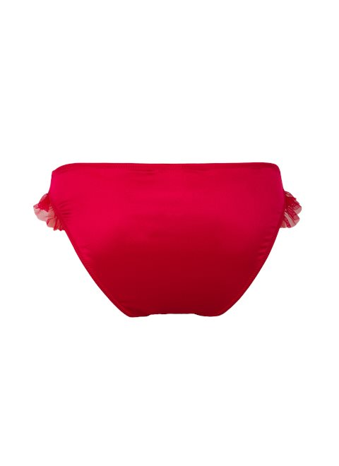 Red Chiffon Frill Briefs