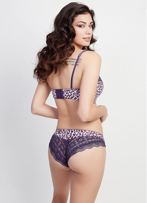Purple Animal Print Bra
