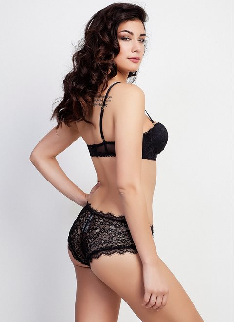 Black Lace Hottie Briefs