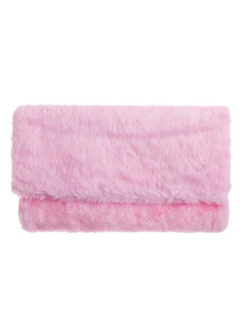 Faux Fur Pink Clutch