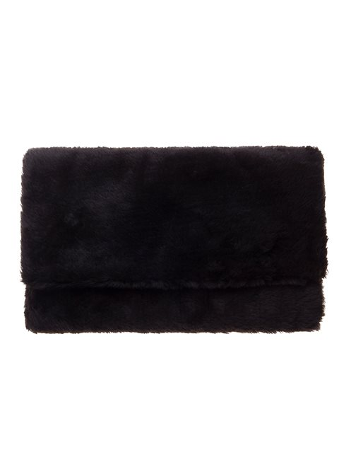 Faux Fur Black Clutch