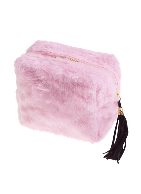 Faux Fur Small Pink Bag