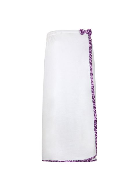 Purple Animal Print Luxe Bath Towel