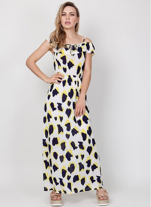 Orion Khan White Maxi Dress