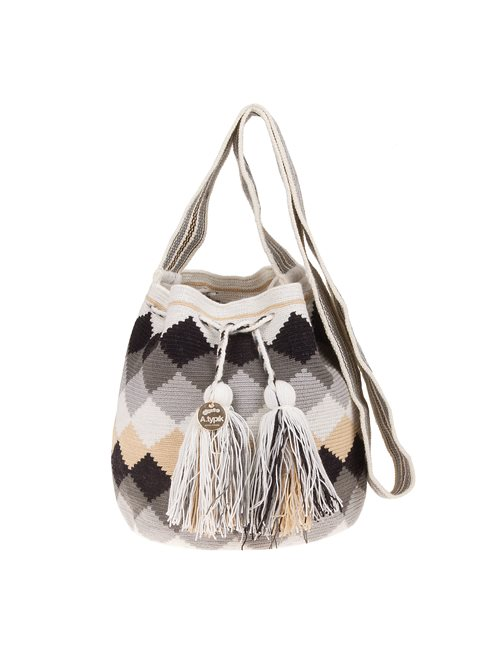 A.typik Black And White Mini Mochila Bag