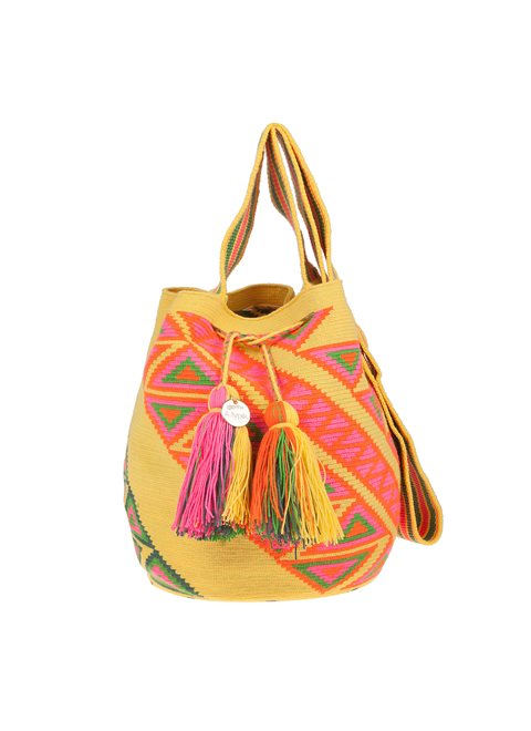A.typik Yellow and Green Mochila Bag