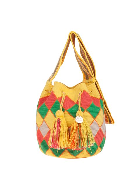 A.typik Yellow Diamond Mochila Bag