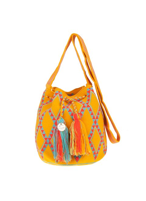 A.typik Yellow Aztec Mochila Bag