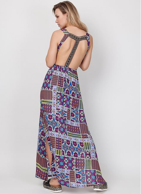 MINKPINK Conflict Of Interest Beaded Maxi Dress