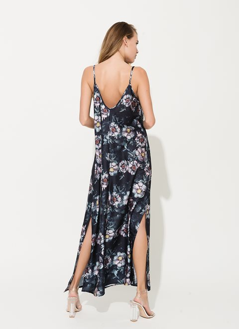 Gaia Blue Floral Dress