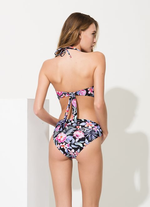 Aphrodite Black Tropical Monokini