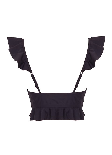 Hermione Black Frill Top