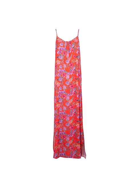Gaia Red Tropical Dress