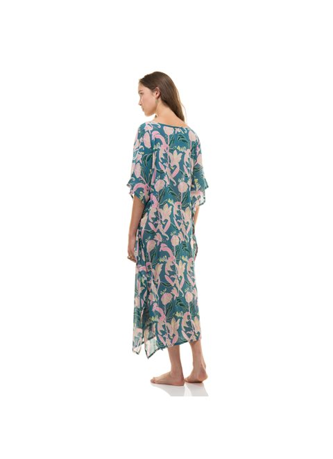 Zen Ethic Blue and Green Kaftan