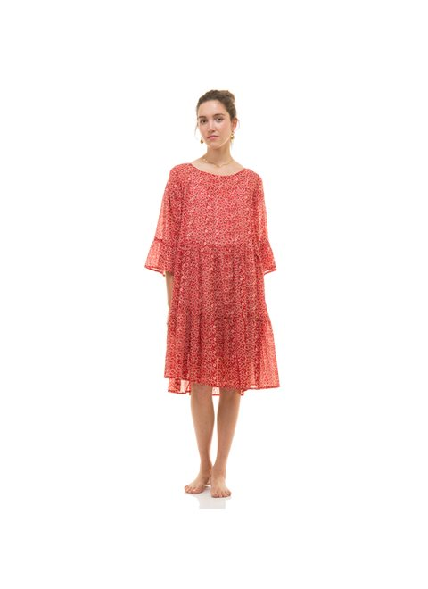 Zen Ethic Girly Red Dress
