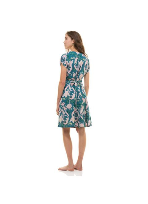 Zen Ethic Blue and Green Wrap Dress