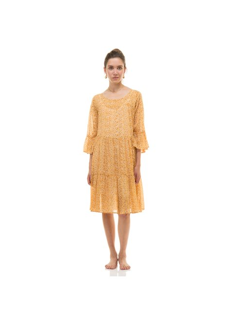 Zen Ethic Girly Ochre Dress