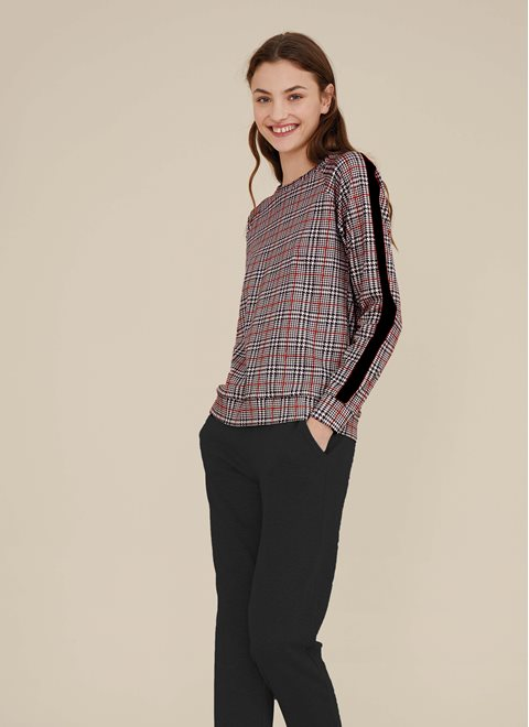 Noidinotte Black and Red Checked PJ set