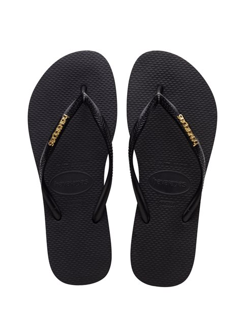 Havaianas Slim Metallic Black/Gold