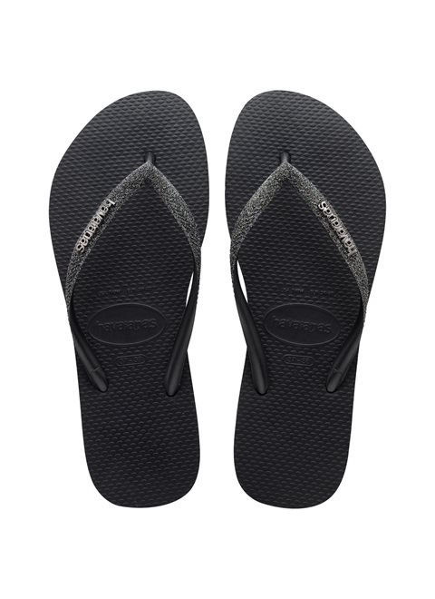 Havaianas Slim Glitter Black/Dark Grey Metallic