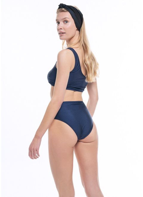 Cassandra High Waist Navy Brief