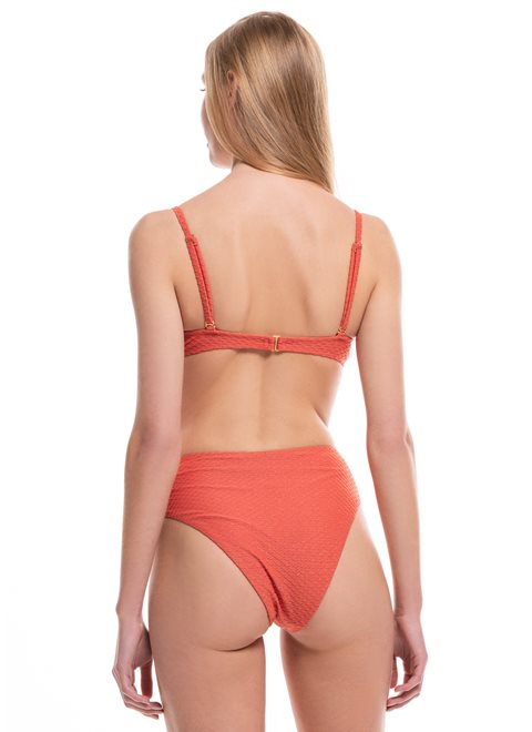 Cassandra High Waist Orange Lurex Brief