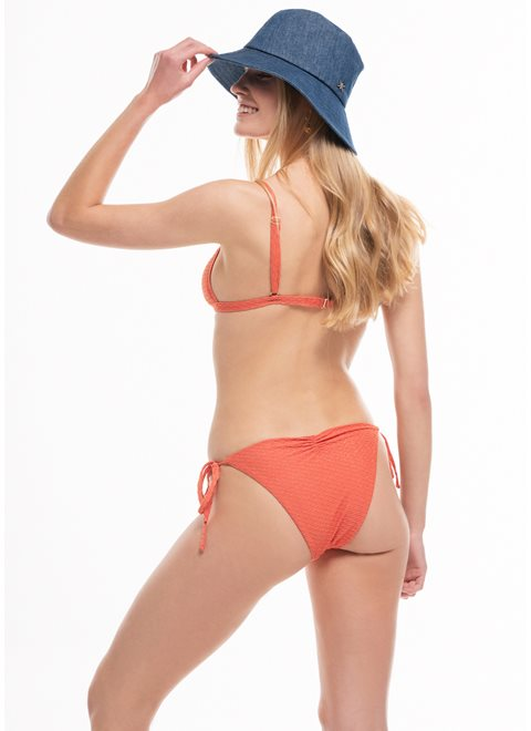 Amaryllis Orange Lurex Cheeky Tie Side Brief