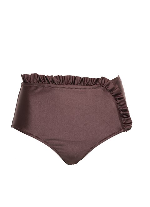 Aria High Waisted Frill Marron Brief
